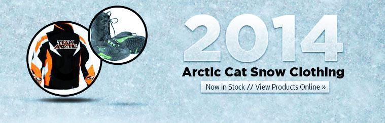2014 Arctic Cat snow clothing is now in stock! Click here to view products online.