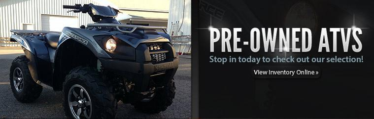 Pre-Owned ATVs: Stop in today to check out our selection or click here to view our inventory online.