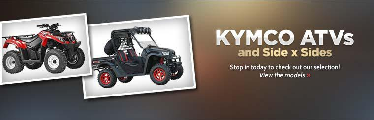 KYMCO ATVs and Side x Sides: Stop in today to check out our selection!