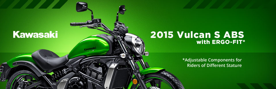 2015 Kawasaki Vulcan S ABS with ERGO-FIT: Click here to view the model.
