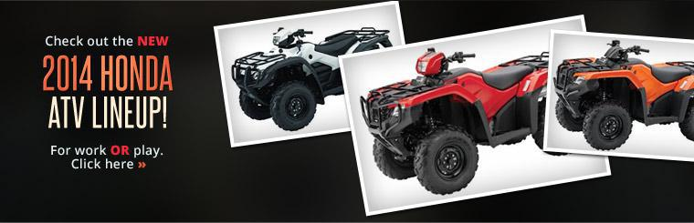 Check out the new 2014 Honda ATV lineup!