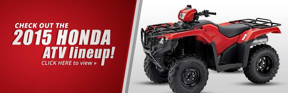 Check out the 2015 Honda ATV lineup!