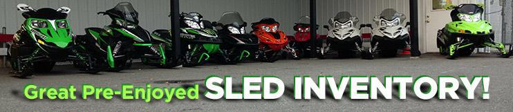 Great Pre-Enjoyed Sled Inventory!