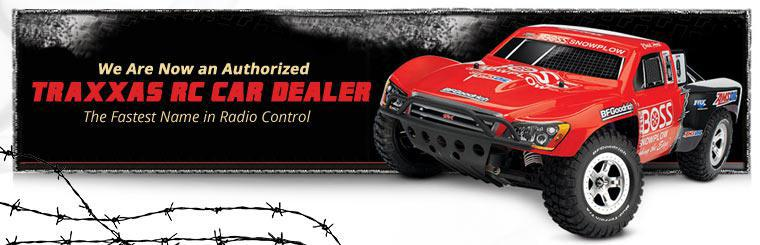 We are now an authorized Traxxas RC car dealer! Contact us for details.