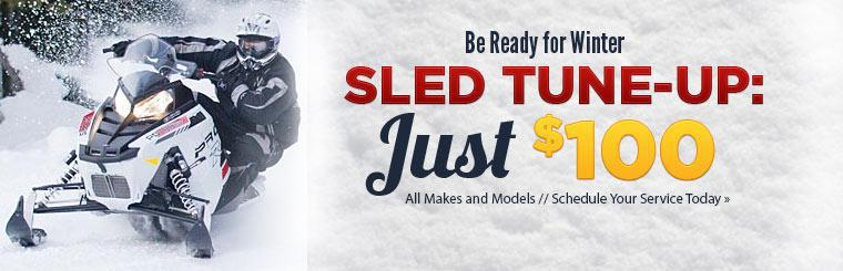 Get a sled tune-up for just $100! Schedule your service today.