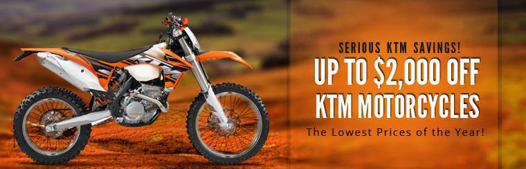 Serious KTM Savings: Get up to $2,000 off KTM motorcycles!