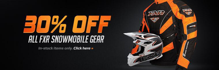 Get 30% off all FXR snowmobile gear! Click here for details.