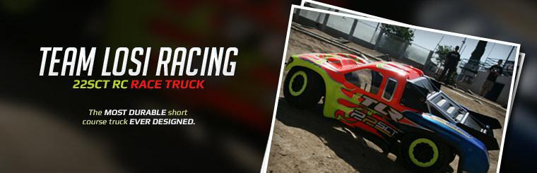 Team Losi Racing 22SCT RC Race Truck: The most durable short course truck ever designed.