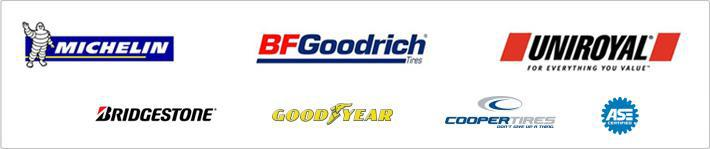 We carry products from Michelin®, BFGoodrich®, Uniroyal®, Bridgestone, Goodyear, and Cooper. ASE Certified.
