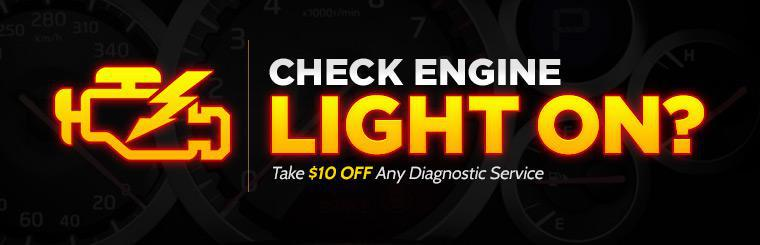 Is your Check Engine light on? Take $10 off any diagnostic service! Click here to print the coupon.