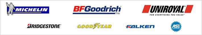 We carry products from Michelin®, BFGoodrich®, Uniroyal®, Bridgestone, Goodyear, and Falken. ASE Certified.