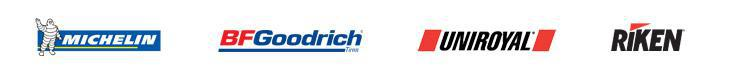 We carry products from Michelin, BFGoodrich, Uniroyal, and Riken.