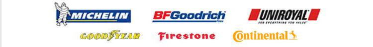 We proudly carry products from Michelin®, BFGoodrich®, Uniroyal®, Goodyear, Firestone, and Continental.