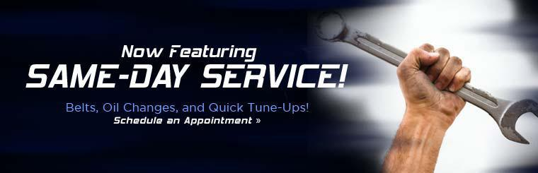 We now feature same-day service! Click here to schedule an appointment.