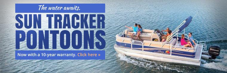 Sun Tracker pontoons are now available with a 10-year warranty. Click here to learn more.