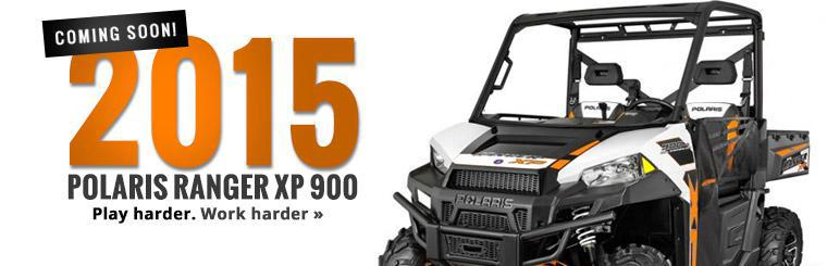 Play harder and work harder with the 2015 Polaris Ranger XP 900. Coming soon to Four Seasons Sport & Marine. Click here to contact us for details.