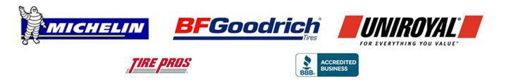 We are a Tire Pros dealer and carry products from Michelin®, BFGoodrich®, and Uniroyal®. We are accredited by the Better Business Bureau.