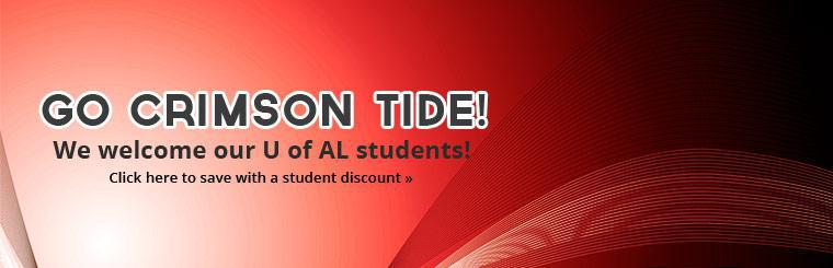 Go Crimson Tide: Click here to save with a student discount.