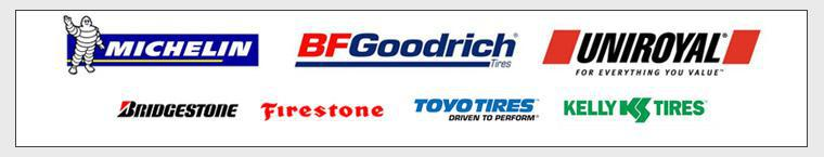 We proudly carry Michelin®, BFGoodrich®, Uniroyal®, Bridgestone, Firestone, Toyo, and Kelly.