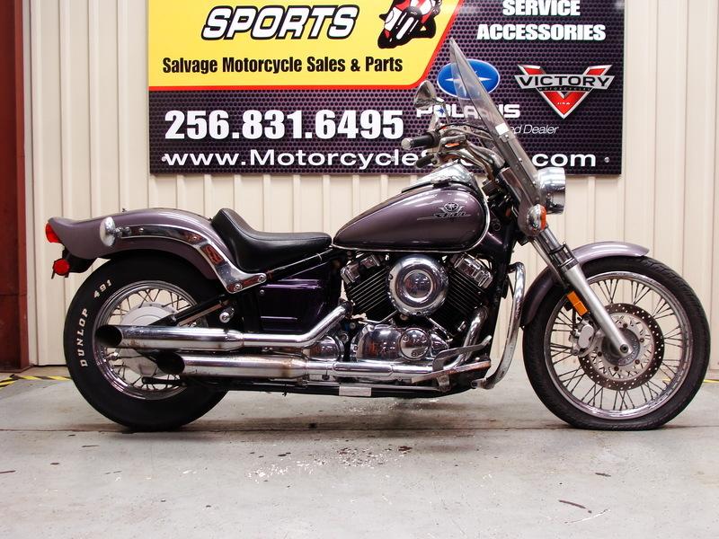 2003 Yamaha V Star 650 Custom Salvage Title Bike For Sale In