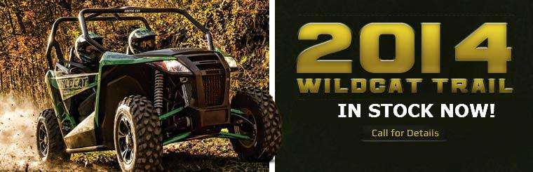 The 2014 Arctic Cat Wildcat Trail will be in stock this February!