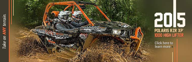 2015 Polaris RZR XP® 1000 High Lifter: Click here to learn more.