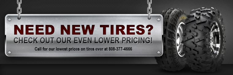 Tire selection at great prices!