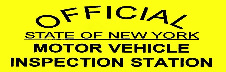 Offical State of New York Motor Vehicle Inspection Station. Contact us today.
