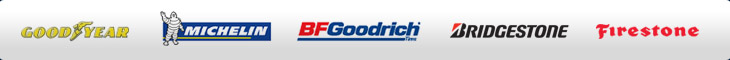 We carry tires from Goodyear, Michelin, BFGoodrich, Bridgestone, and Firestone.