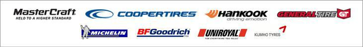 We carry quality products by Mastercraft, Cooper, Hankook, General, Michelin®, BFGoodrich®, Uniroyal®, and Kumho.