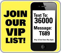Join our VIP list!