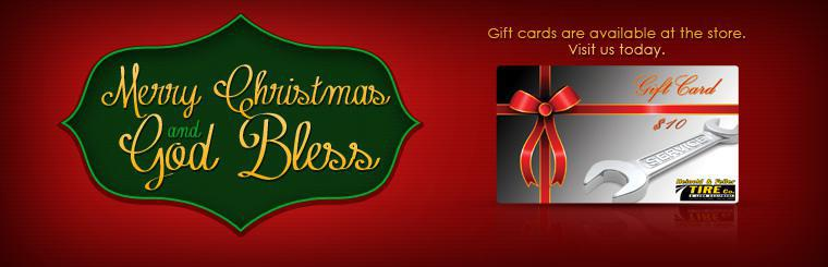 Gift cards are available at the store. Visit us today.
