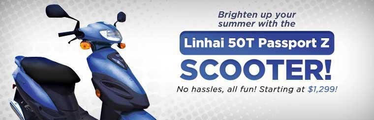 Brighten up your summer with the Linhai 50T Passport Z scooter starting at $1,299!