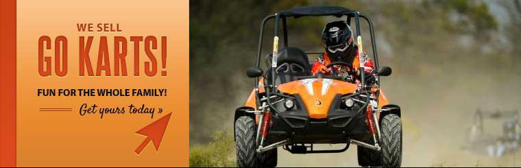 We sell go karts! Click here to view the models.
