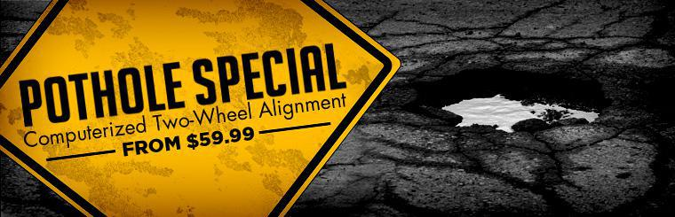 Get a computerized two-wheel alignment starting at $59.99! Click here to print the coupon.