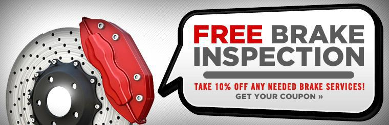 Take 10% off any needed brake services! Click here for a coupon.