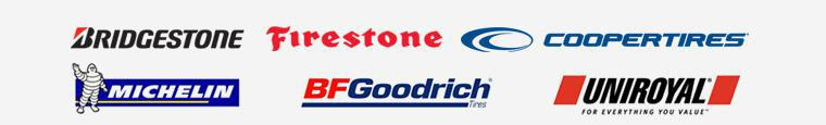 We carry products from Bridgestone, Firestone, Cooper, Michelin®, BFGoodrich®, and Uniroyal®.