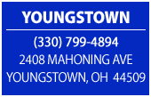 Youngstown. (330) 799-4894. 2408 Mahoning Ave Youngstown, OH 44509.