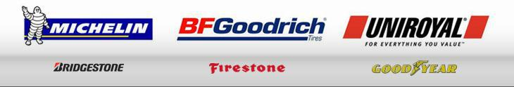 We carry Michelin®, BFGoodrich®, Uniroyal®, Bridgestone, Firestone, and Goodyear tires.