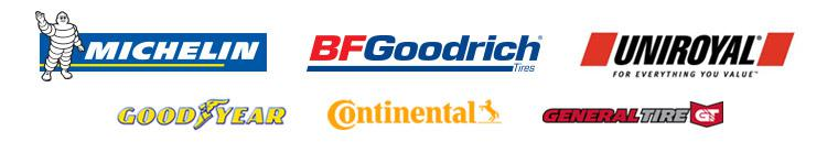 We proudly carry Michelin®, BFGoodrich®, Uniroyal®, Goodyear, Continental, and General.