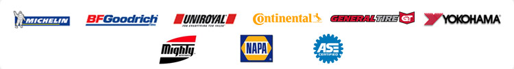 We proudly feature products from Michelin®, BFGoodrich®, Uniroyal®, Continental, General, and Yokohama. Mighty Auto Parts. NAPA. Our mechanics are ASE certified.