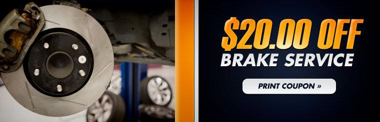 Click here for your coupon to get $20.00 off your brake service!