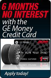 6 Months No Interest with the GE Money Credit Card.  Apply today!