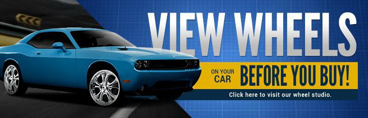 View wheels on your car before you buy! Click here to visit our wheel studio.