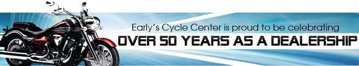 Early's Cycle Center is proud to be celebrating over 50 years as a dealership!