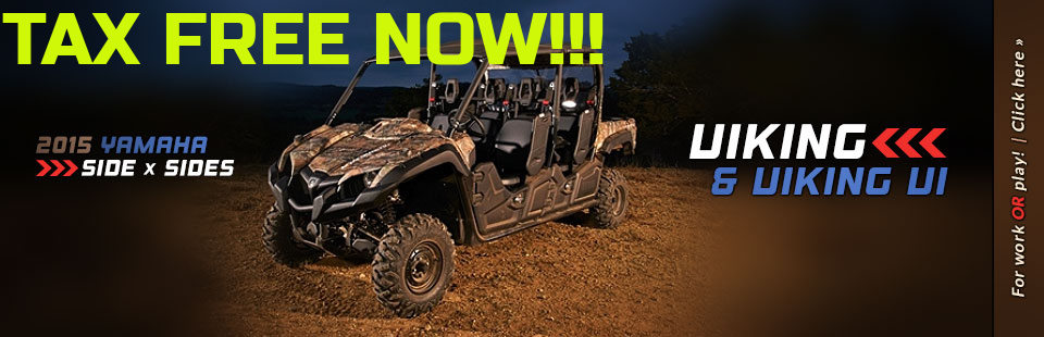 2015 Yamaha Side x Sides: Click here to view the models.
