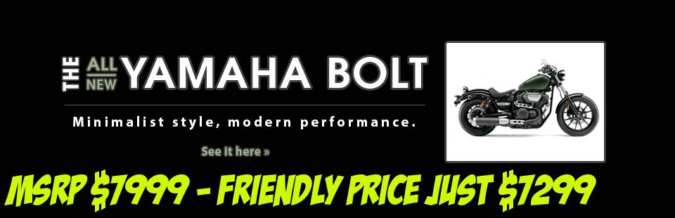 Click here to view the 2014 Yamaha Bolt.