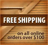 Free Shipping on all online orders over $100