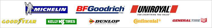 We proudly offer products from: Michelin®, BFGoodrich®, Uniroyal®, Goodyear, Kelly, Dunlop, Continental, and General.