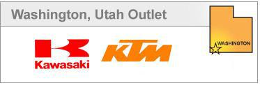 Washington, Utah Outlet proudly carrys Kawasaki and KTM.